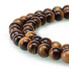 "U Pick Top Quality Natural Tiger Eye Gemstone Loose Round Beads 15.5"" #GY26"