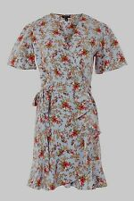 BNWT Topshop Blue Ditsy Floral Confetti Wrap Style Tea Dress - Sizes 10 and 12