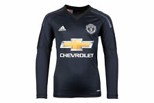 adidas Manchester United 17/18 Youth Home L/S Goalkeepers Football Shirt