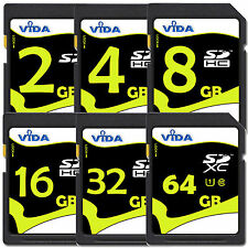 New 32GB 64GB SD SDHC SDXC High Speed Memory Card Class 10 UHS-1 up to 20MB/s UK