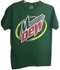 Mountain Dew Classic Distressed Logo Graphic Green Adult T-Shirt