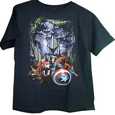 Marvel Team Ups Captain America Iron Man Wolverine Spiderman Thing Adult T-Shirt