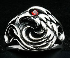 AMERICAN EAGLE 925 STERLING SILVER MENS BAND RING MENS NEW HARLEY HAWK BIKER
