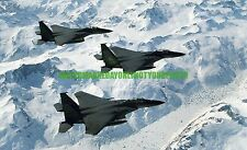USAF F-15C Eagle Color Photo Military War 90th Fighter Squadron Aircraft F 15