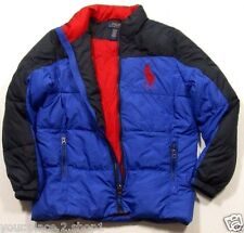 Ralph Lauren Polo Boys Sapphire Star Bue Big Pony Full Zip Ripstop Puffer Jacket