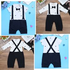 Infant Baby Boys Wedding Tuxedo Clothes One-Piece Romper Overalls Jumpsuit 6-24M