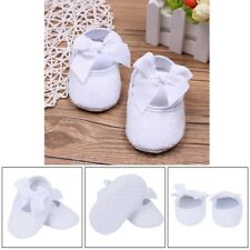 Newborn Baby Girls Baptism Shoes White Lace Floral Christening Crib Booties 0-9M