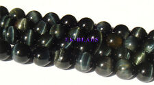 Whoesale Natural Genuine AA Blue Tiger Eye Round Loose Beads 4-16mm