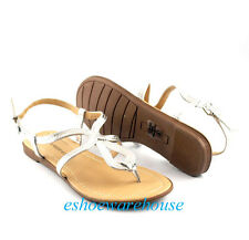 Silver Leatherette Soo Cute Curvy Loop Comfy Style Flat Sandals Shoes