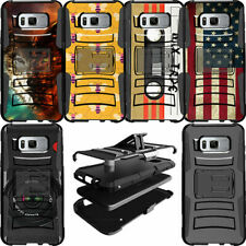 Protective Dual Layer Cover Clip Stand Heavy Duty Case for [Samsung S8 S7 S6]