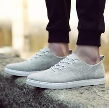 New Mens Fashion Low Top Flats Lace Up Casual Canvas Shoes Running Sneakers