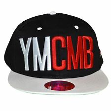 YMCMB - SNAPBACK CAP - ADJUSTABLE SIZE - BLACK WHITE NEW RED