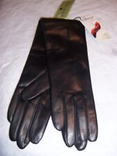Fownes Black 100% Cashmere lined Leather Gloves