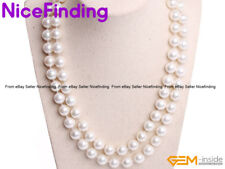 """10mm Shell Pearl Stone Beaded Decorate Necklaces Fashion Women Jewelry Gift 34"""""""
