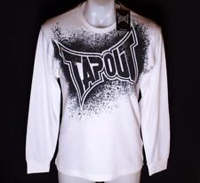 Bnwt Authentic Men's Tapout Long Sleeve Ribbed T Shirt Crew Neck White MMA UFC