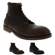 Mens H By Hudson Mckendrick Calf Leather Smart Formal Work Ankle Boots UK 6-12