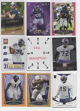 Minnesota Vikings BLOWOUT Lot #2 - Serial #'d - ROOKIES - AUTO - JERSEY - U-PICK