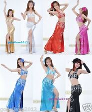 Brand New Sexy Belly Dance 2 Pcs Costume Bra & Skirt 7 Colours