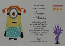 Despicable Me Minion Personalised Birthday Party Invites Or Thank You A6 Cards