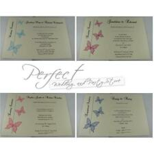 10 Personalised Ivory Wedding Evening Engagement Party Invitations Butterfly