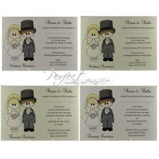 Personalised Invite Bride Groom Wedding Day Or Evening Invitation White Or Ivory