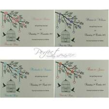 Personalised Wedding Save The Date Cards Bird Cage And Hollow Heart Design