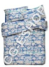 ST SHEETS SINGLE small DOUBLE double HEARTS TYROL BLUE