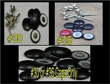 """100-DURA-SNAP UPHOLSTERY BUTTONS #30-#36 WITH 3/4"""" -1 1/2"""" SCREW STUDS-ANY COLOR"""