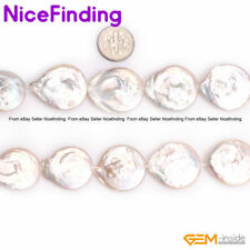 """Colorful Coin Freshwater Cultured Pearl Stone Beads Jewelry Making Strand 15"""""""