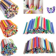 New 50pcs 3D Nail Art Fimo Canes Stick Rods Polymer Clay Stickers Decoration DIY