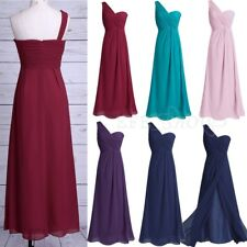 Evening Formal Women's Long One Shoulder Party Gown Bridesmaid Dress Size 8-20