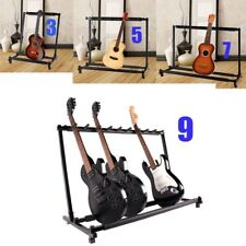 Multiple Guitar Folding Rack Storage Organizer Electric Acoustic Stand Holder SE