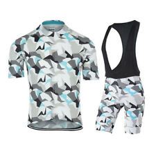 Unisex Camouflage Cycling bike Jersey Shorts Set Clothing  Bicycle sports set