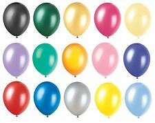 """12"""" METALLIC/Pearlised High Quality LATEX BALLOONS (Decoration/Birthday/Party)"""