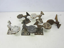 6 Vintage Cast Iron Clam Shell Shaped Shutter Dogs