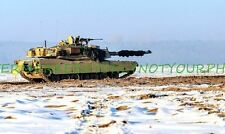 Army M1A2 Abrams Main Battle Tank Color Photo  Military 4th Infantry Division