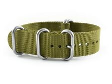 Band with Pin buckle Zulu Nylon Military olive green 26mm 24mm 22mm 20mm 18mm