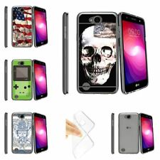 For LG X Power 2, LG Fiesta, X Charge, K10 Power, LV7 Clear TPU Case USA Skull