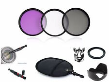 NY52 67mm Adapter Lens Hood Pen UV CPL FLD Filter Set Bundle For Canon FA-DC67A