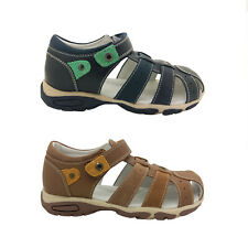 Boys Shoes Surefit Peter Covered Toe Navy Leather Sandals UK Size 9-4 New