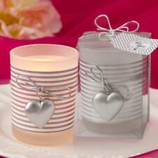 Glass Silver Heart Design Votive Candle Holder - Lots of 20-70