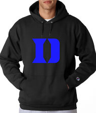 Duke Blue Devils D Logo Champion Hoodie Pullover Jumper Sweatshirt Black