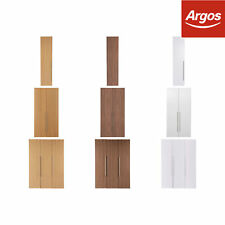 Hygena Atlas Tall Wardrobe - Choice of 1 / 2 / 3 Door & Colour. From Argos ebay