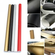 30*127cm 3D PVC Carbon Fiber Vinyl Car Wrap Sheet Roll Film Sticker Decal DIY