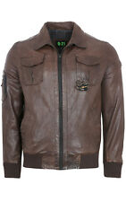 QUADRO Promotion Oneal Men's Lamb leather jacket transitional Brown 6726.222.04