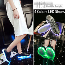 Women Men Adult Light Up USB Charging LED Shoes Flashing Sneakers Trainers Shoes