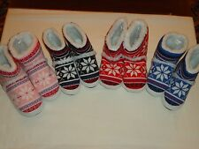 *NEW* Warm and Cozy Womens High Cut Norwegian Slippers/Several Sizes & Colors!