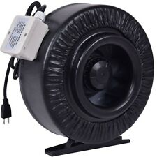 """4"""" 6"""" 8"""" Metal Inline Air Duct Hydroponics Exhaust Air Cooling Duct Fan Blower"""