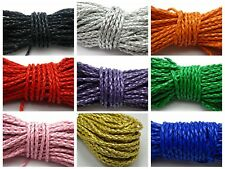 32.8 Feet Round Braided Bolo Synthetic Leather Jewelry Cord String 3mm