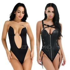 Women's Deep V Bodysuit U Plunge One-Piece Bra Bodyshaper Seamless Wedding Party